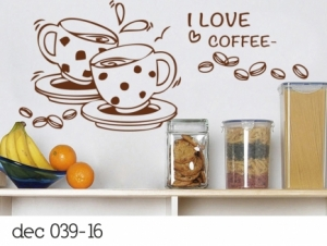Vinilo Decorativos I love coffee