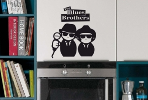 Vinilo Stickers Blues Brothers