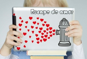 Vinilo Stickers Escape de amor